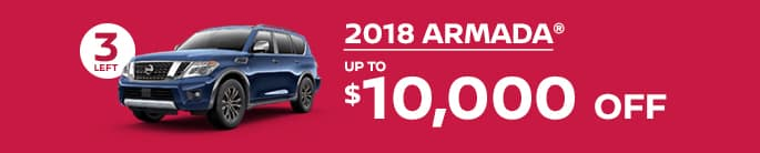 2018 armada get up to $10,000 off