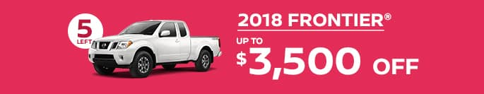 2018 frontier get up to $3,500 off