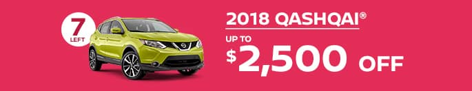2018 qashqai get up to $2,500 off