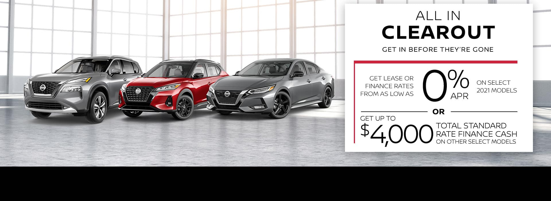 Nissan's All In Clearout Event