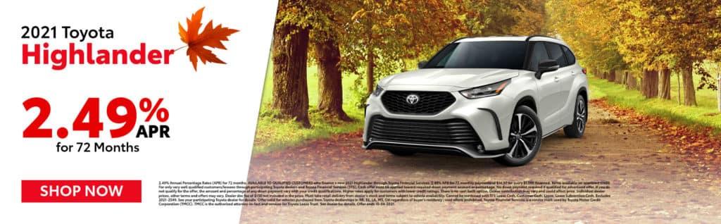 2021 Toyota Highlander Offer in Mt. Pleasant, TX