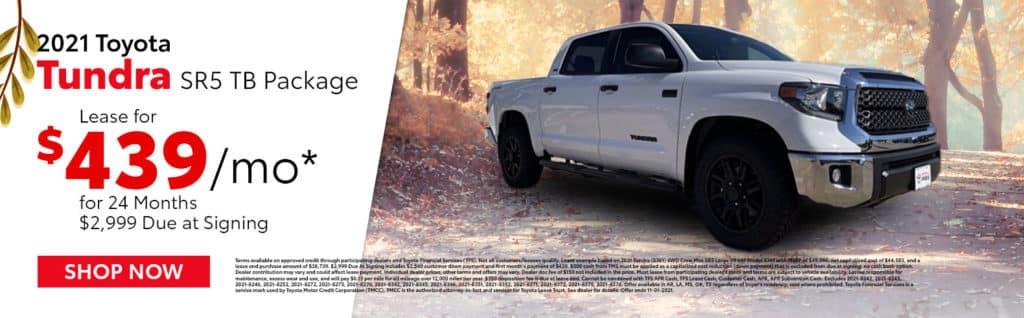 2021 Toyota Tundra Offer in Mt. Pleasant, TX