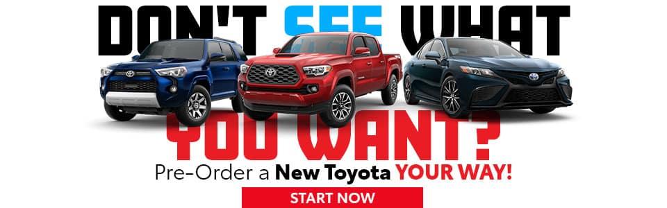 Pre-Order a New Toyota in Mt. Pleasant, TX