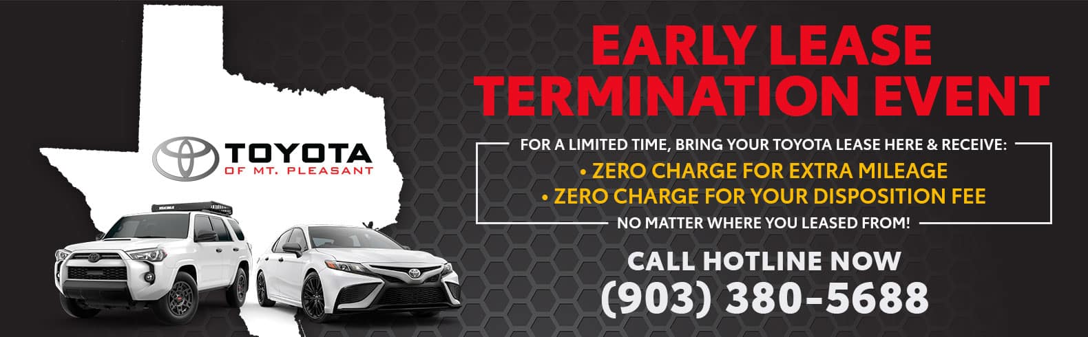 Lease Termination Event in Mt. Pleasant, TX