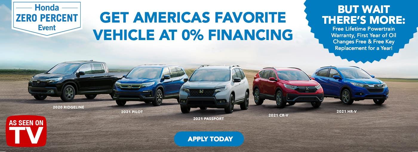 EAG_Honda_Get Americas Favorite Vehicle at 0% Financing