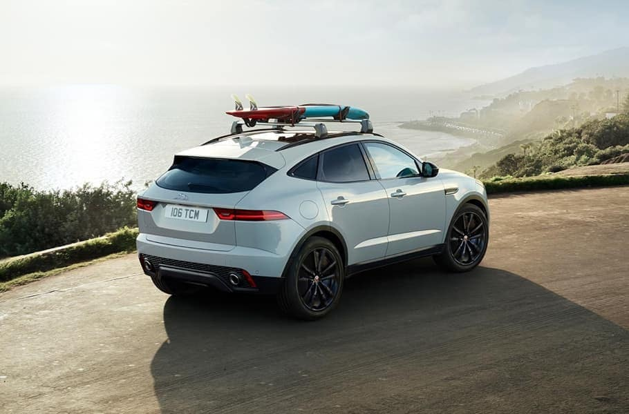 2019 Jaguar E-PACE with cargo on top