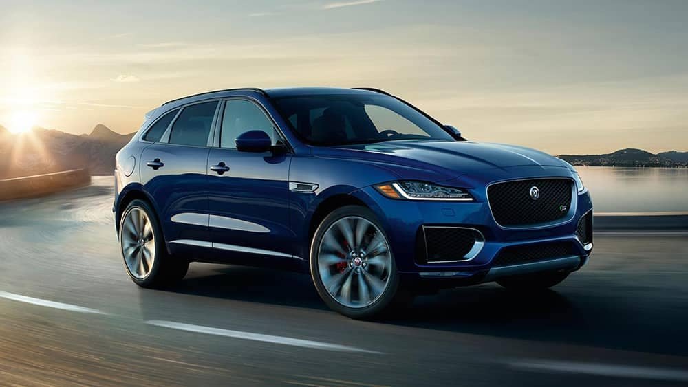2019 Jaguar F-Pace on highway