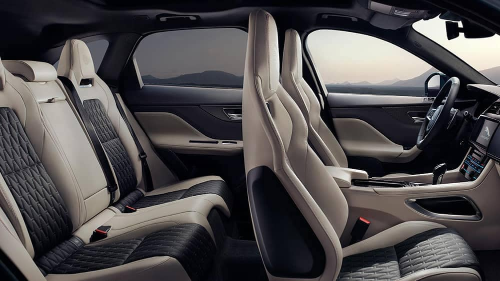 2019 Jaguar F-Pace interior seating side view