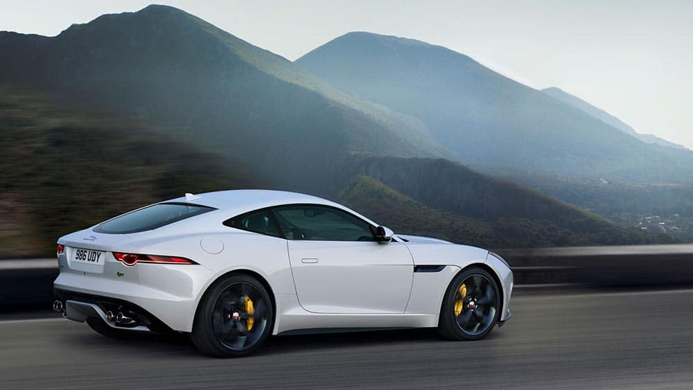 2019 Jaguar F-TYPE R in yulong white driving