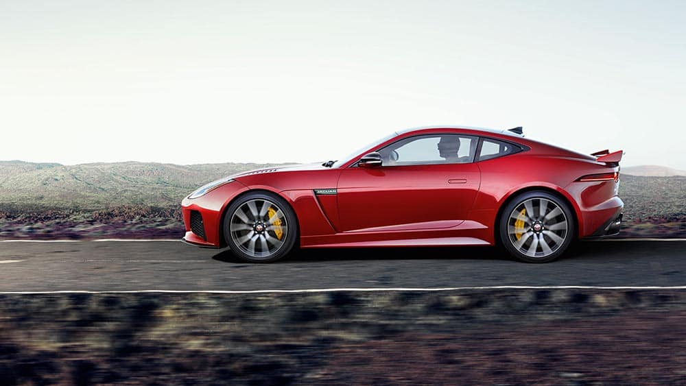 2019 Jaguar F-TYPE SVR in caldera red profile