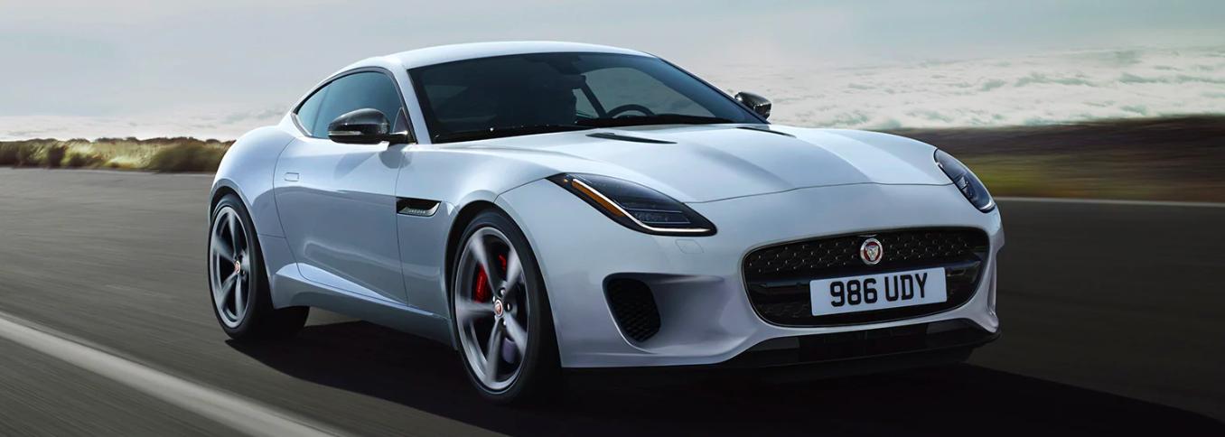 2020 Jaguar F-TYPE Driving on a Road
