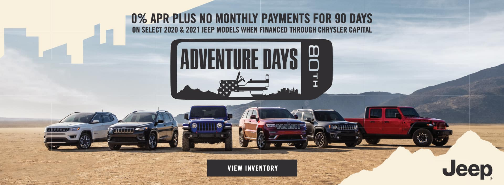 EAG_Jeep_0% APR Plus no monthly payments for 90 days_