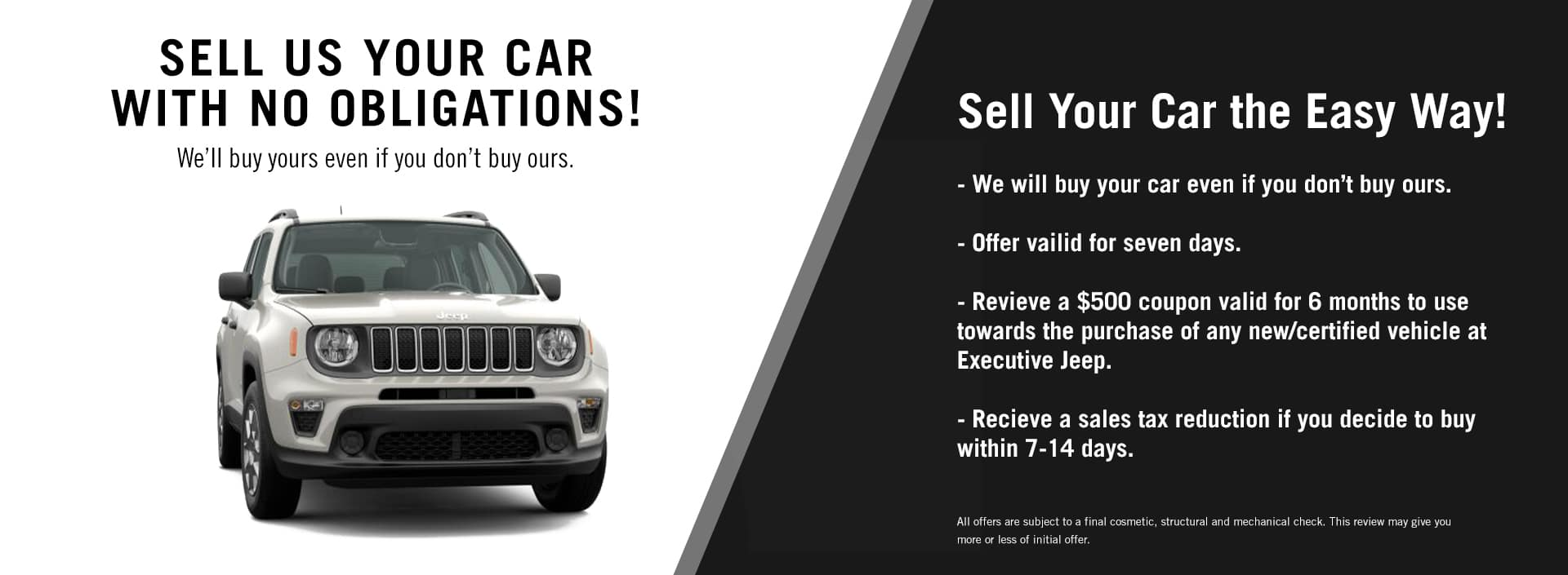 EAG_Jeep_SELL US YOUR CAR_WITH NO OBLIGATIONS!