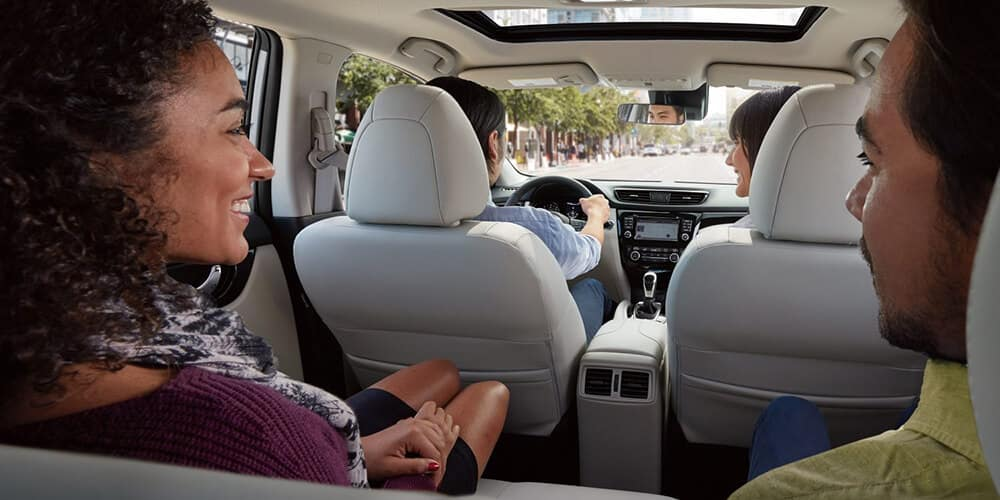 2018.5 Nissan Rogue Sport interior design backseat