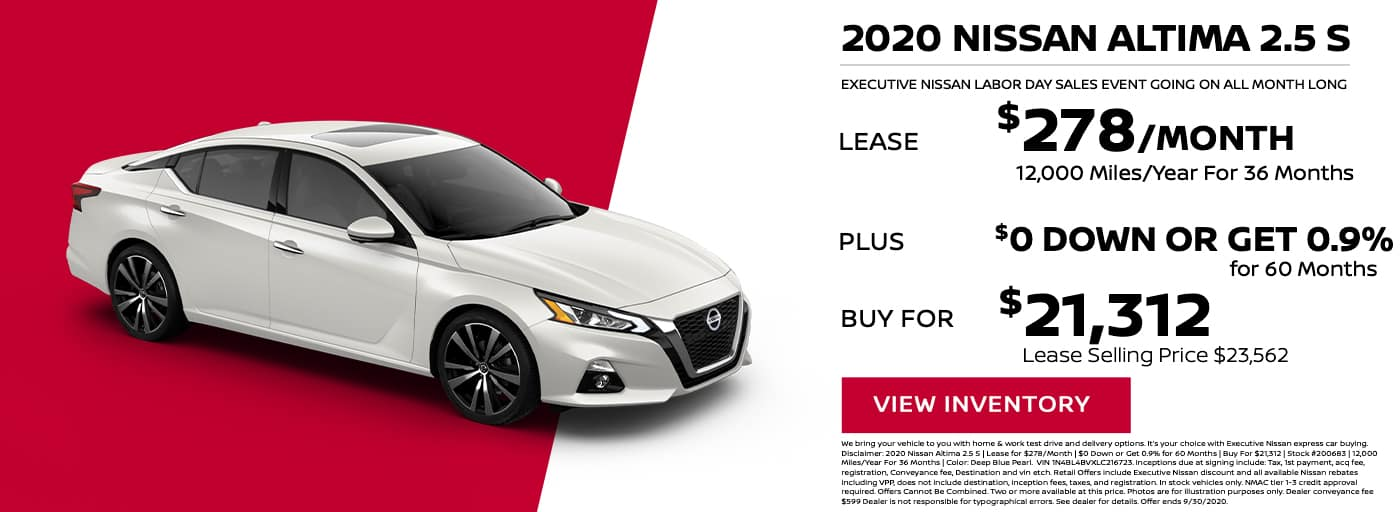 EAG_Nissan_ 2020 nissan Altima 2.5 s