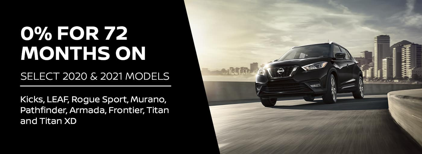 EAG_Nissan_0% for 72 months on Select 2020 & 2021 models