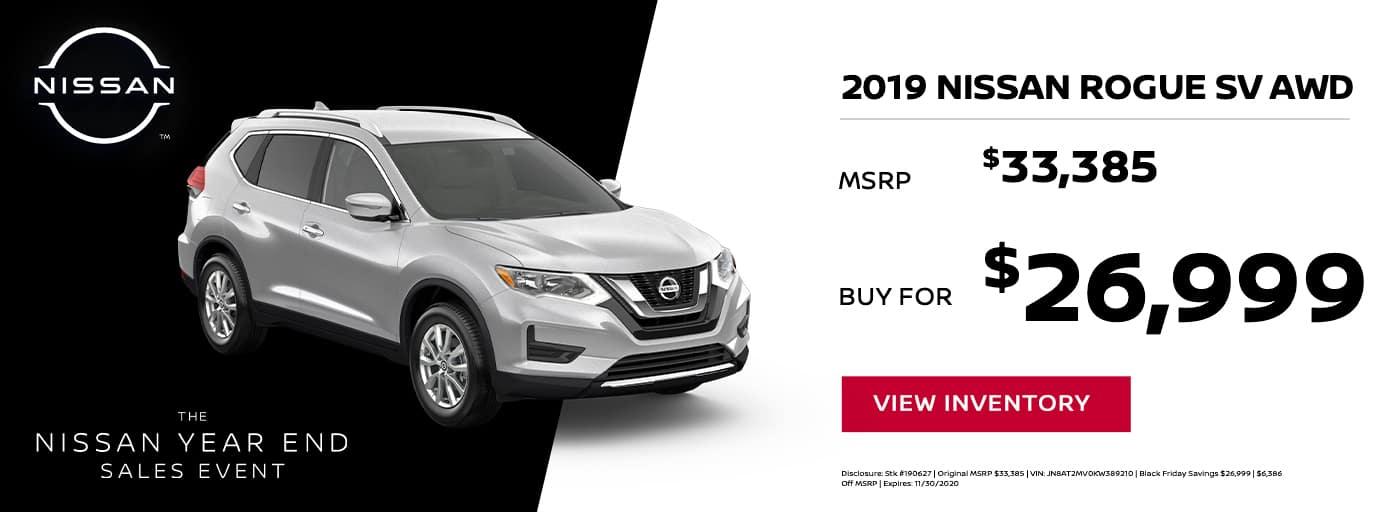 EAG_Nissan_NOV_2019 Nissan Rogue SV AWD