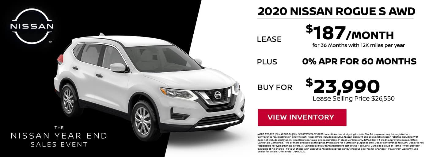 EAG_Nissan_NOV_2020 Nissan Rogue S awd