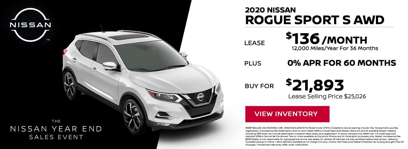 EAG_Nissan_NOV_2020 nissan Rogue Sport s awd