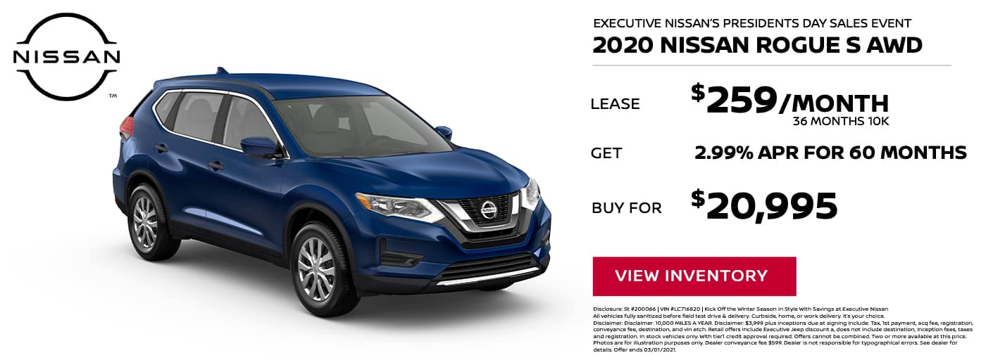 EAG_Nissan_2020 Nissan Rogue S AWD