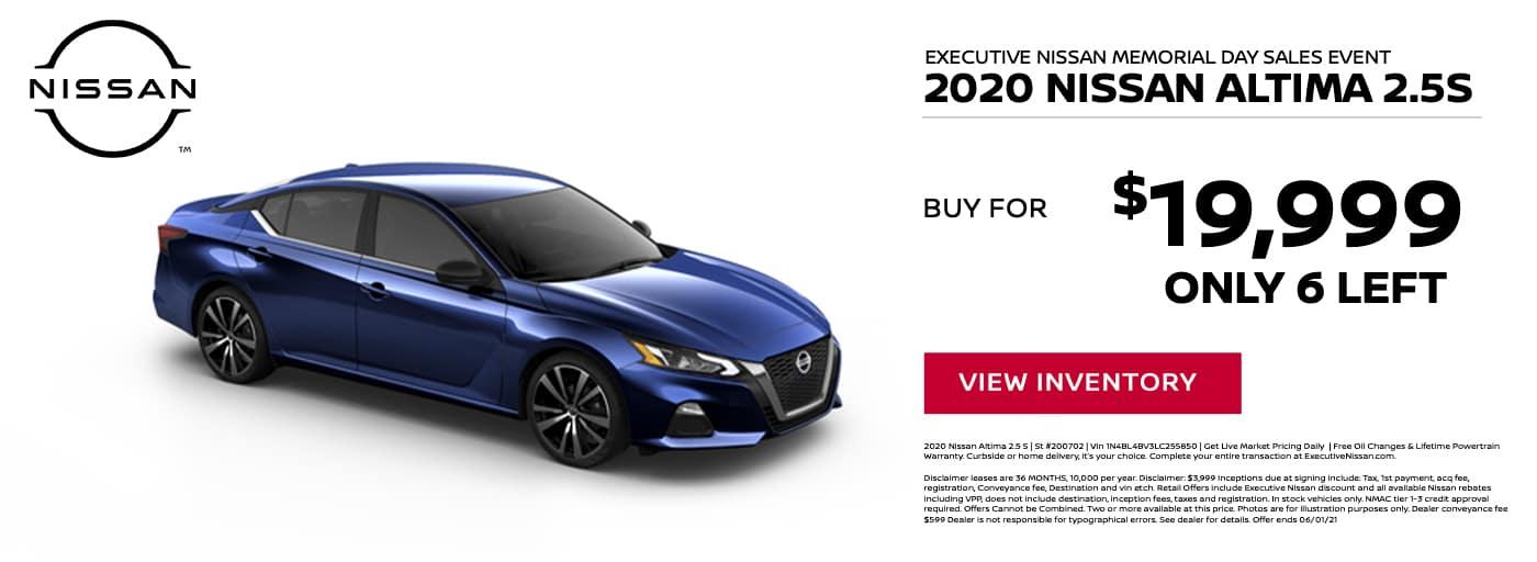EAG_Nissan_2020 Nissan Altima 2.5S