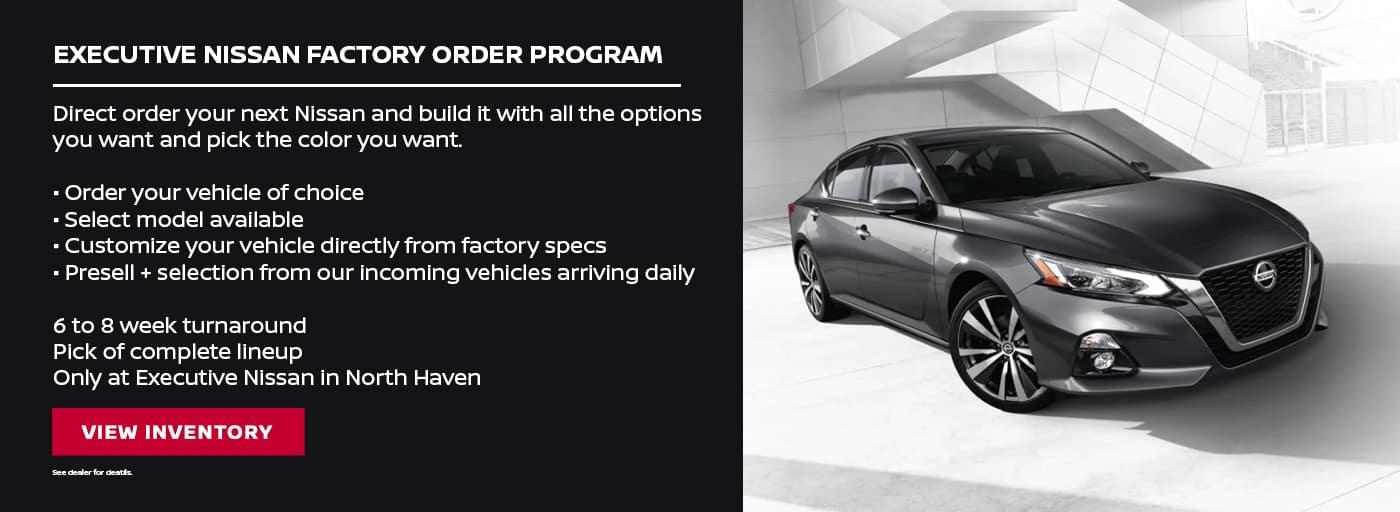 EAG_Nissan_Executive NIssan Factory Order Program