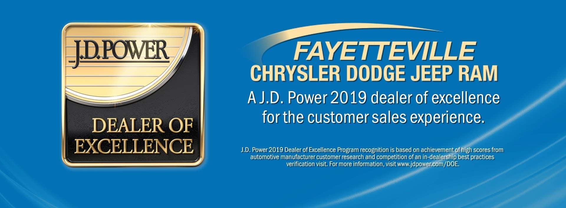 JD Power Award Fayetteville