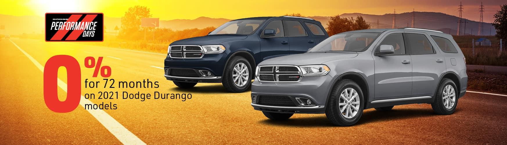 0% for 72 months on 2021 Dodge Durango models