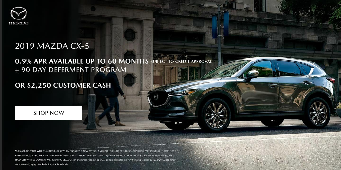 2019 Mazda CX-5 APR offer and customer cash!
