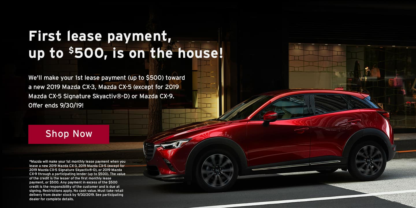 First Lease Payment is on the House at Findlay Mazda near Las Vegas