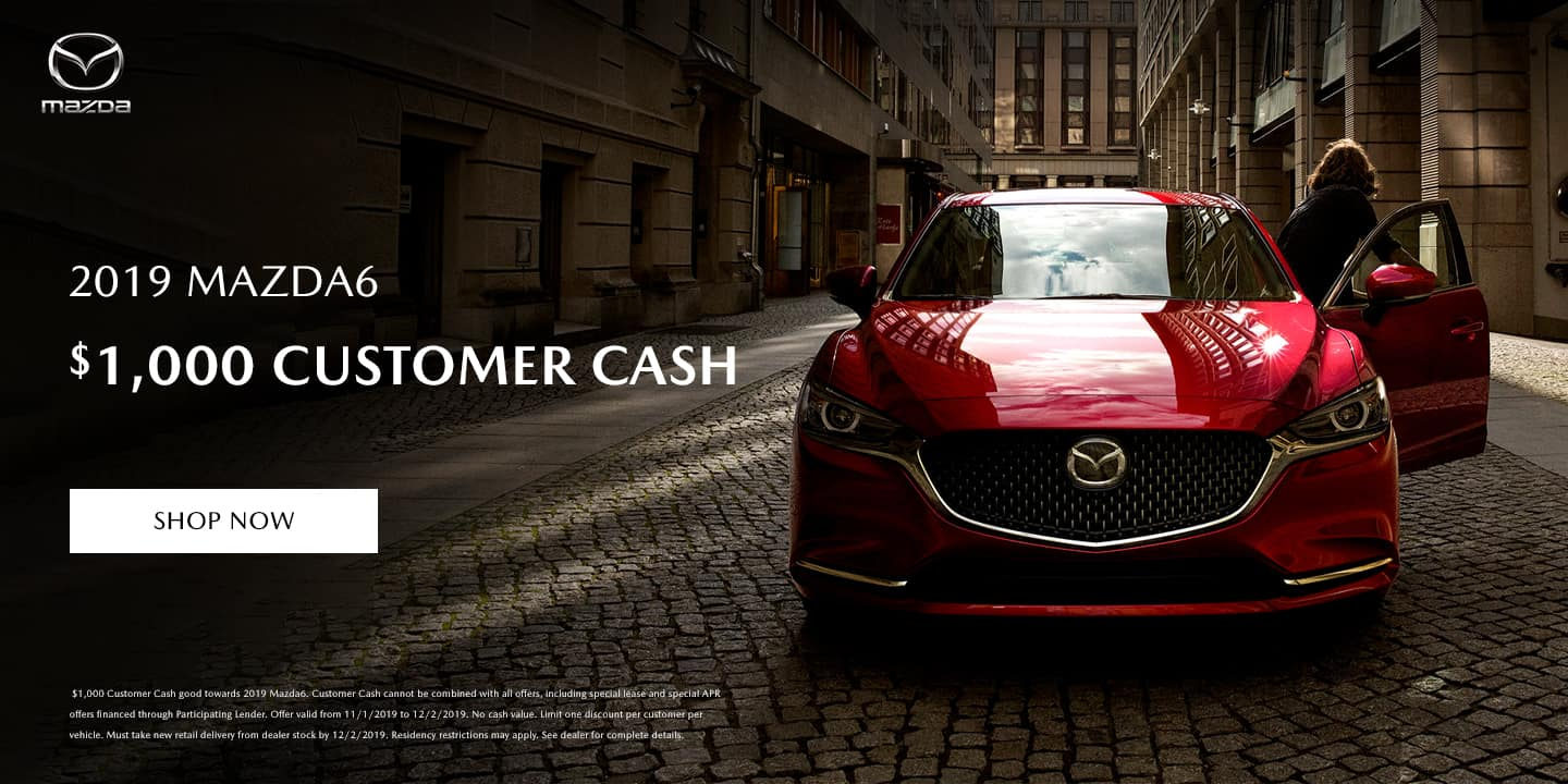 Mazda6 $1000 Customer Cash