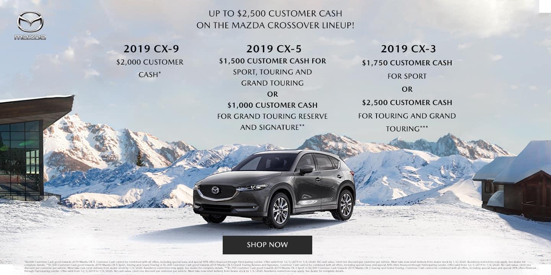 Customer Cash offer on SUVs