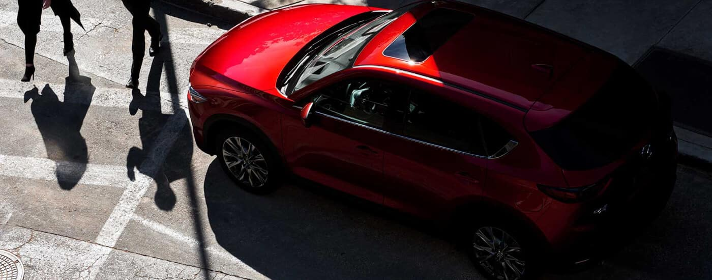 overhead view of red 2019 Mazda CX-5