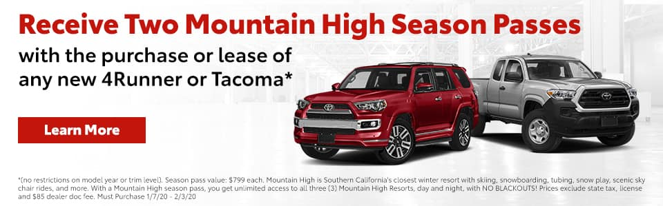 Buy or lease 4 Runner or Tacoma