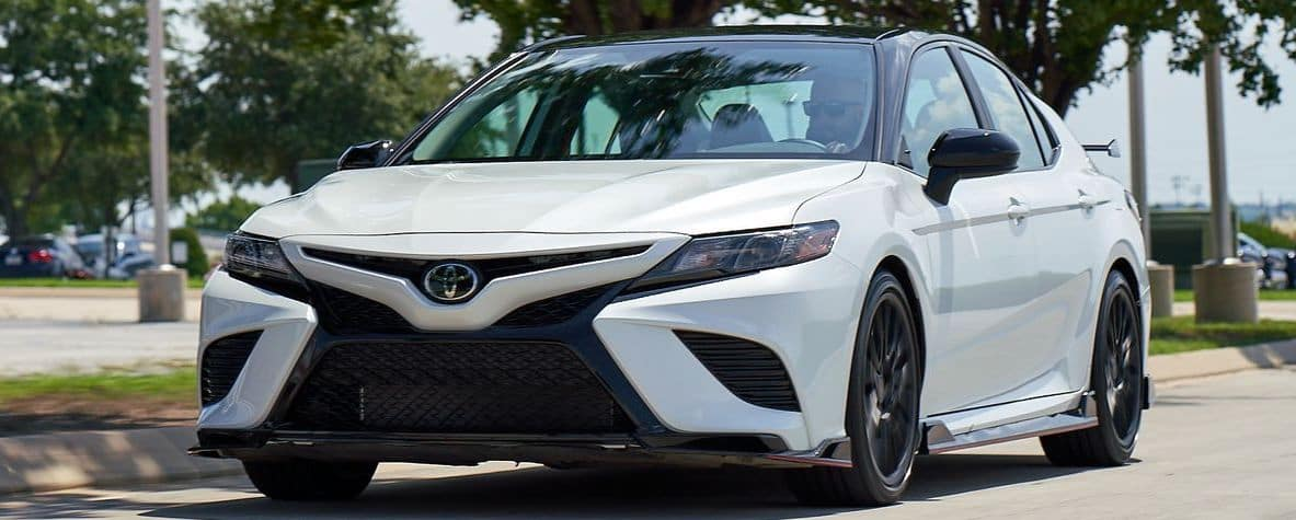 2020 Toyota Camry on a busy street