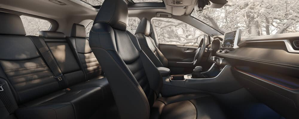 2020 Toyota RAV4 interior with features