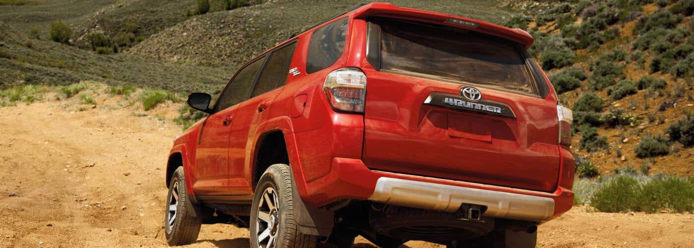 2020 Toyota 4Runner Red off roading on the dirt