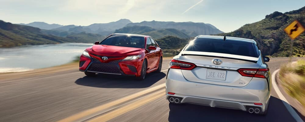 2020 Toyota Camry on a mountain side road