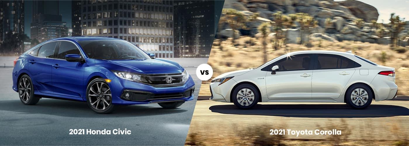 2021 Toyota Corolla vs 2021 Honda Civic comparison