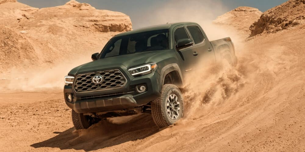 2021 Toyota Tacoma in the sand