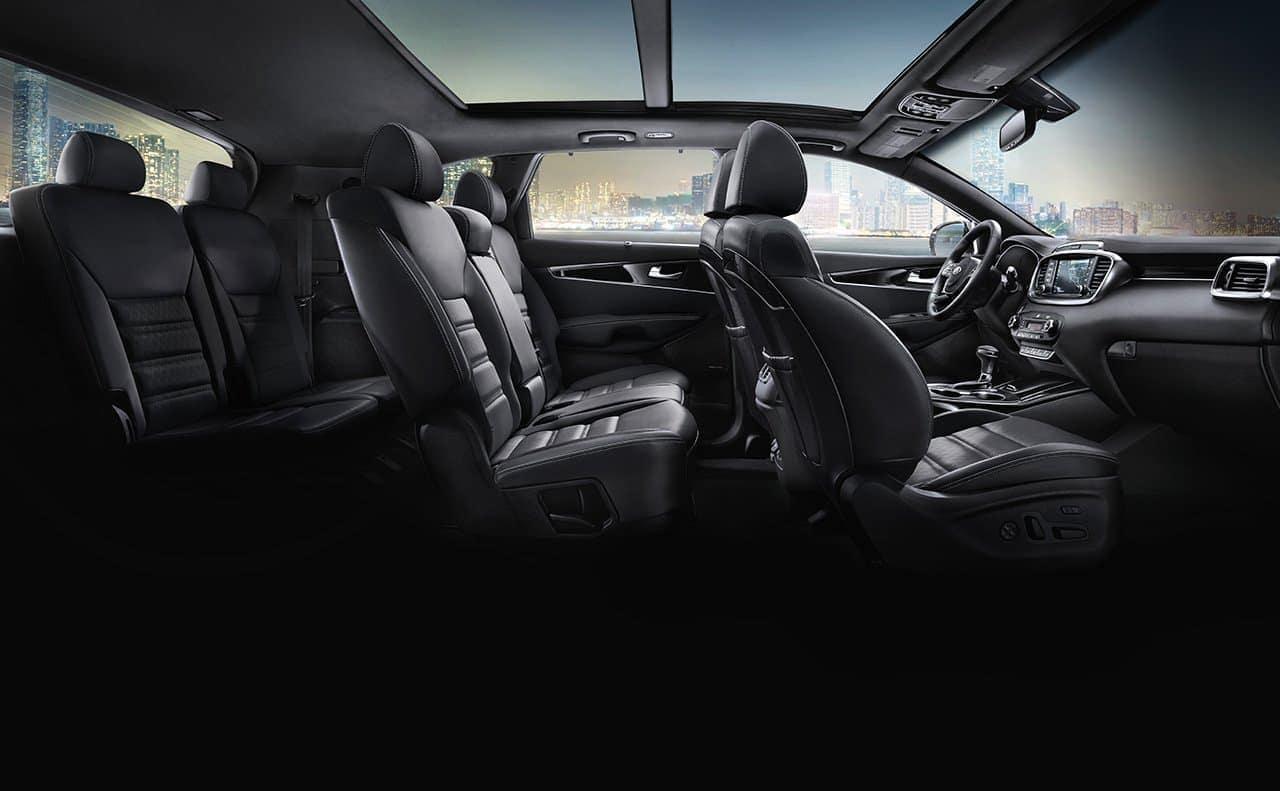 2019 Kia Sorento interior in black leather