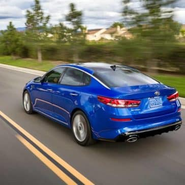 2019 Kia Optima rear driving