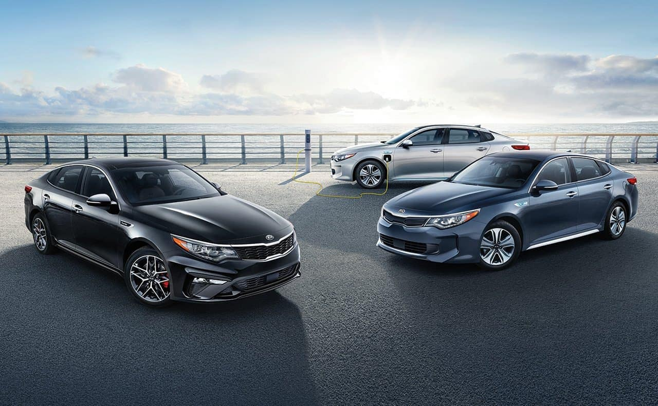 2019 Kia Optima lineup and hybrid model