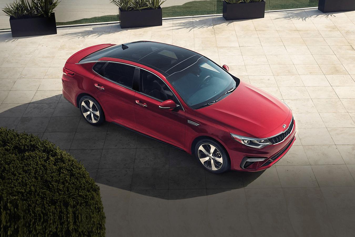 2019 Kia Optima exterior in red