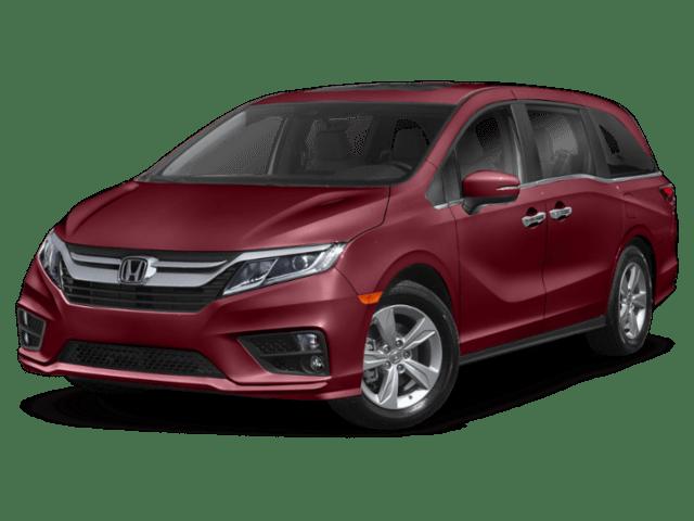2020 Honda Odyessey in burgundy