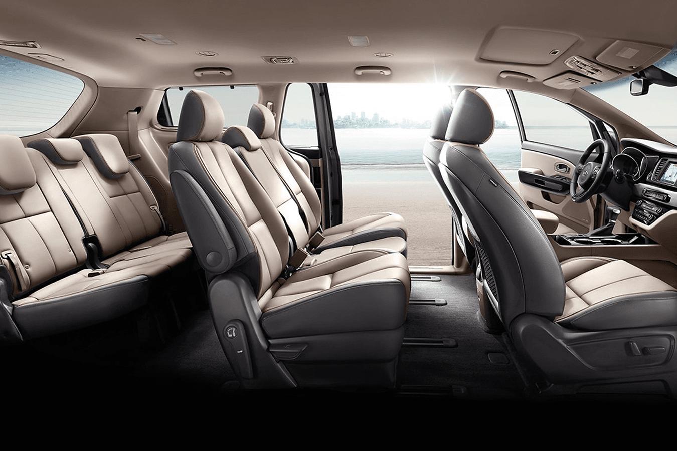 2020 Kia Sedona interior in leather and passenger volume