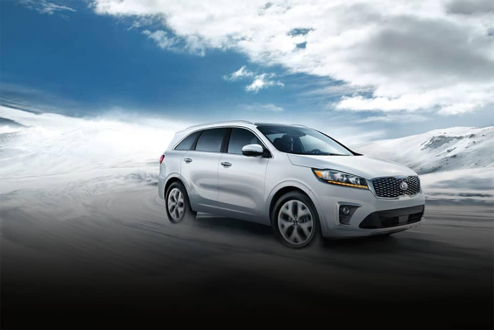 2020 Kia Sorento Driving in Snow
