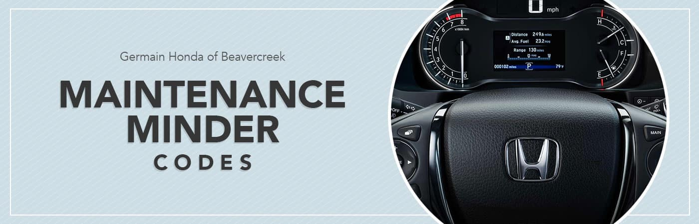 Honda Maintenance Minder Codes | Germain Honda of Beavercreek