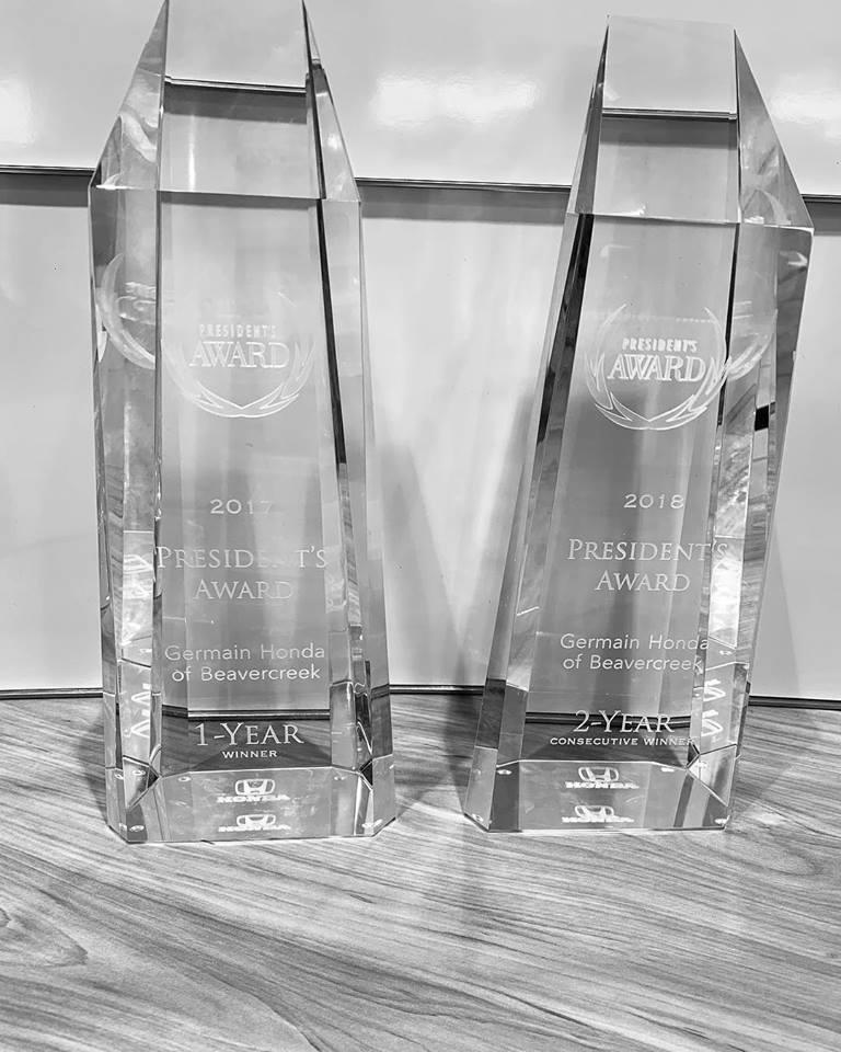 2018 President's Award - Germain Honda of Beavercreek