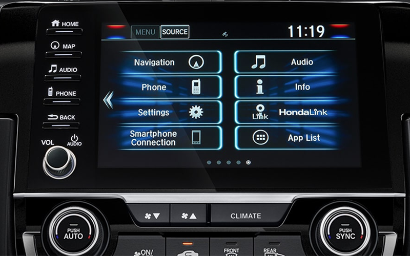 2019 Honda Civic Sedan Display Audio System Volume Knob